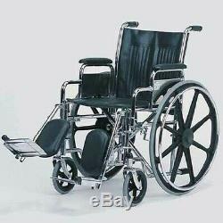 16 Chaise Roulante Détachable Bras / Élevé Jambe Repos