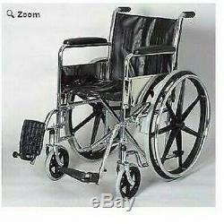 16 Chaise Roulante avec Fixé Bras / Repose-Pied
