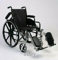 18 Léger Chaise Roulante / Élevé Jambe Repos