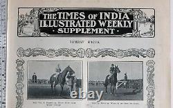 1911 Inde Imprimé Bombay Courses Gazon Club Tasse Ouest Handicap Paul Pry