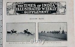 1911 Inde Imprimé Lucknow Courses Militaire Handicap Chase Civil Service Tasse