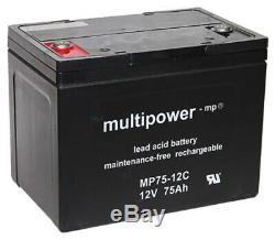 2 X 12V 75Ah Plomb AGM Batteries Pour Scooter Meyra Pièces Cityliner 415