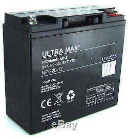 2 X Ultra Max 12V 20AH (17Ah 18Ah 21Ah 22Ah) Gel Mobilité Sterling scooter