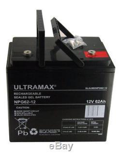 2 X Ultra Max 12v 62ah AGM Pride COLT XL8