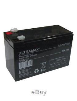 2 X Ultramax 12v 7ah Batterie Gel Pour Rasoir E200 & E200s & E300 & E325 Scooter