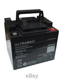 2 X Wltramax 12v 40ah Batteries 38ah 42ah 44ah 45ah Agm/gel Scooter De Mobilité