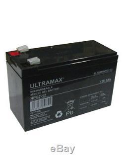 2 X ultramax NPG7-12 12V 7Ah Qualité Premium Gel Piles Pour