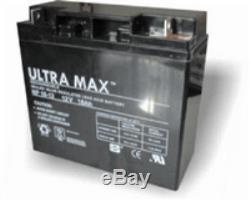 2 x ULTRAMAX 12V 18ah batterie SCOOTER de mobilité & CHAISE ROULANTE