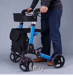3 En 1 Déambulateur Mobilité pli aide marche réglable siège Sac de shopping