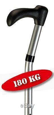 3 XL Canne à marche avec schwanenhals-griff Déambulateur Canne de marche