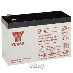 4 Paquet 12V 7AH (Conforme 8AH &10AH) Véritable Yuasa 12V 7Ah Mobylette Piles