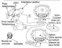 Amplicall 20 Sonnette lumineuse et indicateur d'appel téléphone Neuf