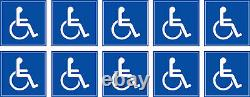 Autocollants Stickers Accès aux Handicapés par lot de 10 20 50 ou 100