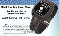BAS sang SUCRE poignet porté ALARME Hypoglycaemia MONITEUR froid transpiration