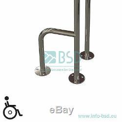 Barre dappui à monter au sol à gauche/ à droite, acier inoxydable, Ø25 mm