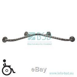 Barre dappui coudée à monter dans langle horizontale avec cache-fixations, aci