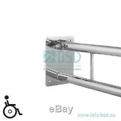 Barre dappui lavabo rabattable Ø25 mm, acier inoxydable