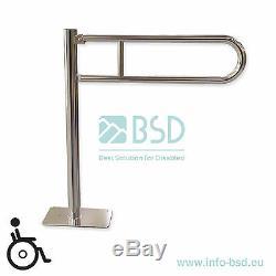 Barre dappui rabattable à monter au sol Ø25 mm, acier inoxydable
