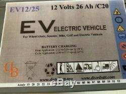 Batterie 12 Volts 26Ah/C20 21Ah/C5 Gel Fauteuil Roulant Handicapé