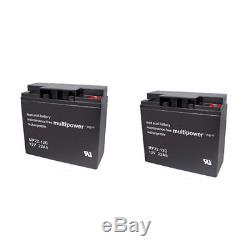 Batterie GEL 2 X 12V / 22 Ah pour Alber zusatzantrieb e-fix E26