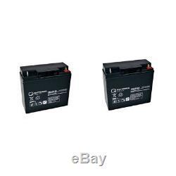 Batterie GEL 2 X 12V / 23 Ah pour Dietz bechle LISTO Octuor scooter