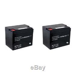 Batterie GEL 2 X 12V / 36 Ah pour Invacare MISTRAL fauteuil roulant électronique