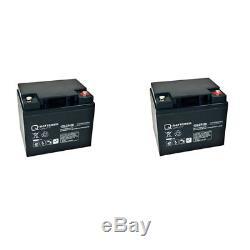 Batterie GEL 2 X 12V/50 AH pour rolektro éco-mobiles 15 scooter