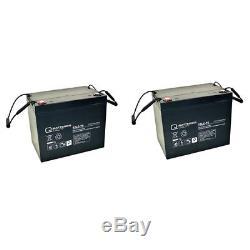 Batterie GEL 2 X 12V / 77 Ah pour Vermeiren CRUISER traîneau scooter