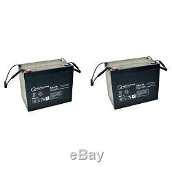 Batterie GEL 2 X 12V / 77 Ah pour meyra-ortopedia Tout rond 960C
