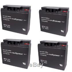 Batterie GEL 4 X 12V / 22 Ah pour rolektro E-TRIKE 25 scooter