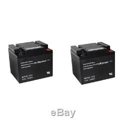 Batterie Gel 2 X 12v/50 Ah pour Meyra Ortopedia Ortocar 4 Classic Scooter