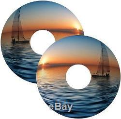 CHAISE ROULANTE Garde rayons Peaux Bateau Sunset pêcher design personnalisé