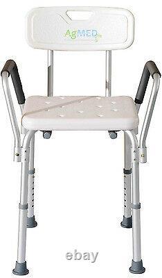 Chaise De Douche Avec Accoudoirs et Dossier Anti Bain Handicapés Personnes gées