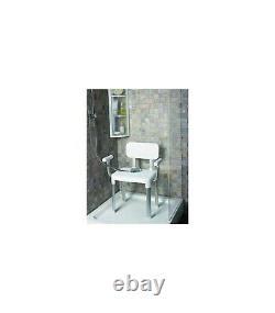Chaise de douche ajustable avec accoudoirs