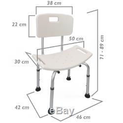 Chaise de douche réglable en hauteur pour toilette
