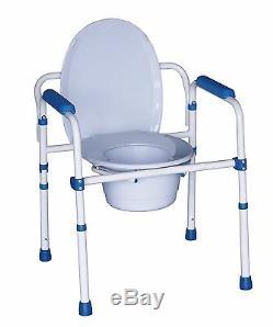 Chaise percée pliante avec couvercle / rehausse WC / cadre de maintien