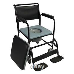Chaise percée roulante, modèle Barco
