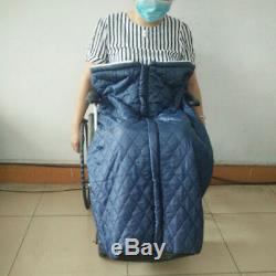 Couverture de couverture chauffée de fauteuil roulant imperméable doublée