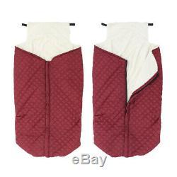 Couverture de réchauffeur de fauteuil roulant doublée en peluche 2 pièces