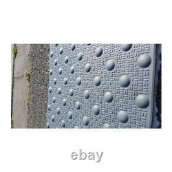 Dalle podotactile en résine avec adhésif épais gris 600 x 825 mm