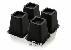 Design61 13cm Furniture & Bed Riser rehausseurs pour lit 4 pièces en noire