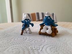 Duo Smurfs Handicapés 1994 Peyo