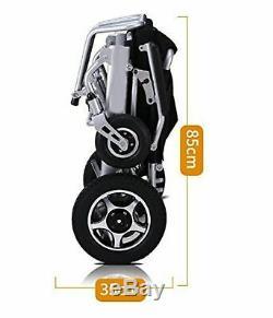 Électrique Fauteuil Roulant Power Roue Chaise Léger Mobilité Aide Pliable