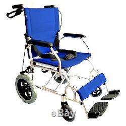 elite care ec1863 pliant l ger fauteuil roulant de transfert avec freins sous. Black Bedroom Furniture Sets. Home Design Ideas