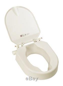 Etac Hi Loo Lunette WC surélevée fixe avec couvercle 10 cm
