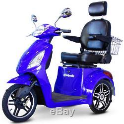 Ewheels EW-36 Élite Électrique 3-Wheel Mobylette Bleu -e-wheels Scooter