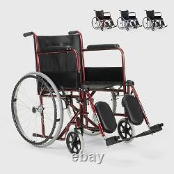 Fauteuil roulant avec support de jambe pliant Peony handicapés et personnes âgée