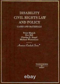 Handicap Civil Rights Law Et Politique Couverture Rigide Peter Blanck
