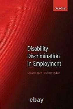 Handicap Discrimination En Employment Livre de Poche Spencer Keen