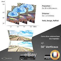 KIT Salle DE CINÉMA = VIDEOPROJECTEUR Haut de Gamme (FHD, 3D, Android.) + Ho